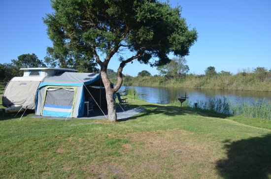 Wilderness, Sydafrika: Campsite on the Touw River