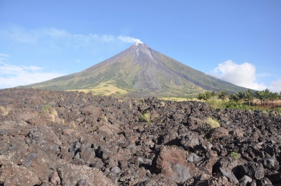 Luzon, Filippinerna: this is the lava wall