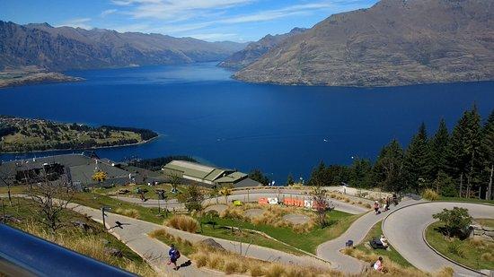 Queenstown, Nova Zelândia: View from top of Luge track