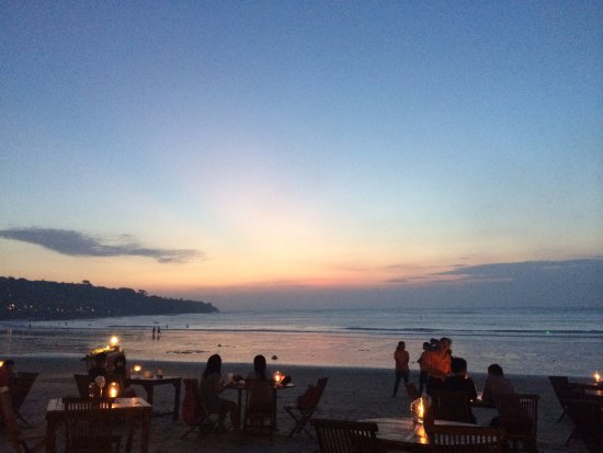 Jimbaran, Indonesien: dinner with the best views