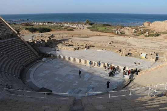 Caesarea, อิสราเอล: view from top of theatre