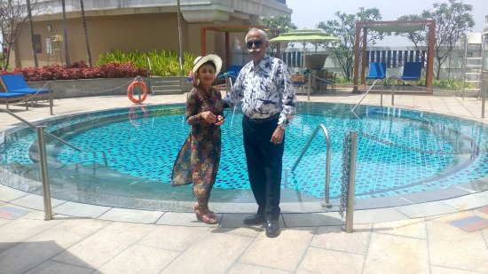 The Round Swimming Pool At 35th Floor Picture Of Itc Grand Chola Chennai Chennai Madras