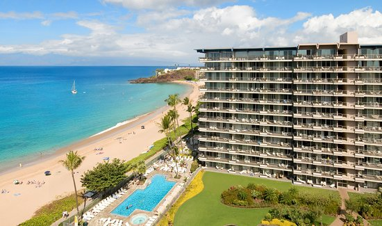 Aston at The Whaler on Kaanapali Beach: Resort Exterior with Kaanapali Beach and Pool