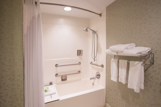 Exton, PA: ADA/Handicapped accessible Guest Bathroom with mobility tub