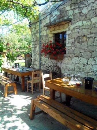 Alikampos, Grekland: уютный дворик для дегустаций