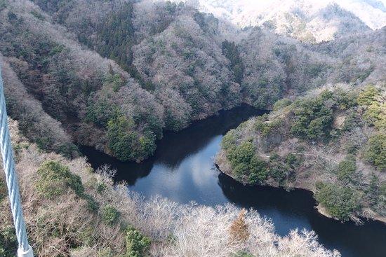 Hitachiota, Japan: 竜神大吊橋からの景色です。