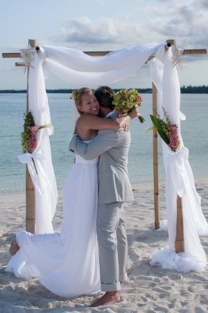 Marsh Harbour, Île de Great Abaco : Wedding Venu Beach