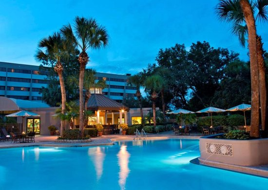 DoubleTree Suites by Hilton Orlando - Disney Springs Area: Pool Night-Time