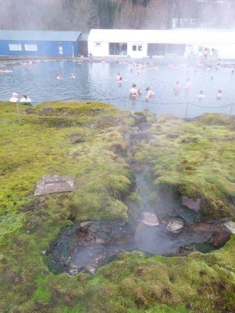 Secret Lagoon - Gamla Laugin: von da kommt das heiße Wasser