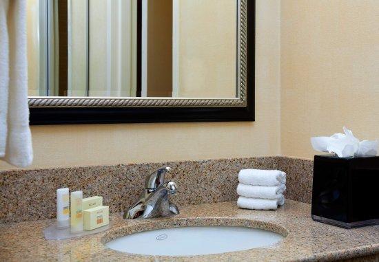Bathroom Vanity Kansas City guest bathroom vanity - picture of courtyard kansas city overland