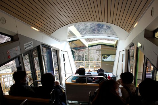 Isehara, Japon : Interiors of Oyama Cable Car