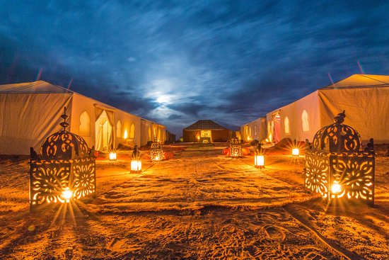 Marrakech Desert Tour: luxury desert camp