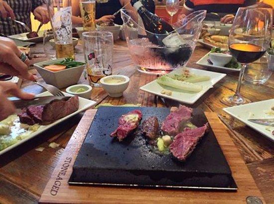 Henley in Arden, UK: Customer photo STONEAGED steak on the stone Henley-in-Arden