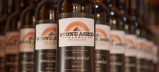Henley in Arden, UK: Complimentary glass of wine with every STONEAGED steak meal