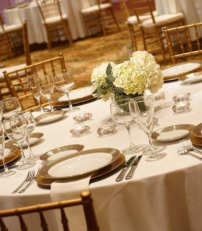 Kingsgate Marriott Conference Center at the University of Cincinnati : Grand Ballroom Wedding Detail