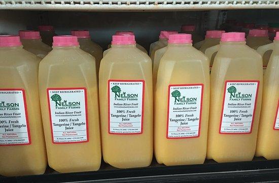 Fort Pierce, FL: Freshly squeezed orange juice