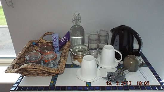 Glenarm, UK: Tea tray in all bedrooms