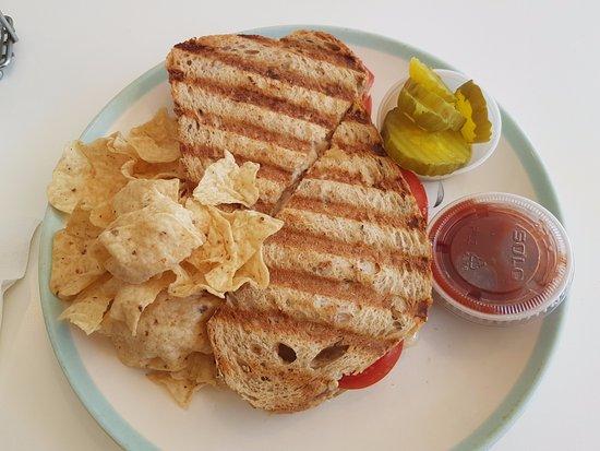 Cold Spring, Nowy Jork: Garden Cafe tuna melt pannini