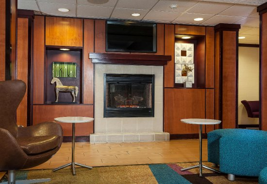 Lobby Fireplace - Picture of Fairfield Inn & Suites Anchorage ...