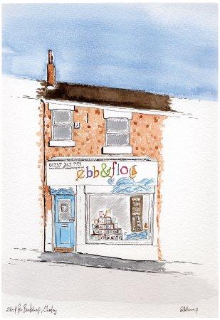 ebb & flo bookshop (drawn by Artminx)