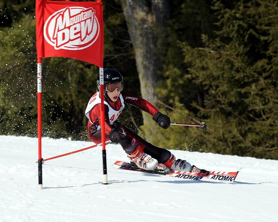 Auburn, ME: Ski Racer at Lost Valley