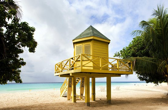 Saint Michael Parish, Barbados: Typical Barbados beach shelter in our hotel