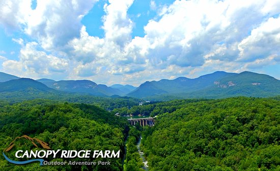 Lake Lure from above the Canopy Ridge Farm property