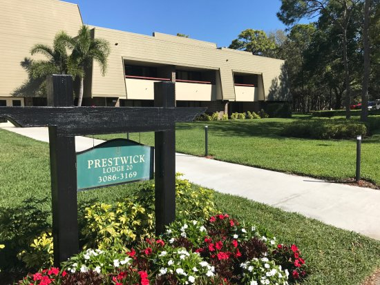"""Palm Harbor, FL: The front of our unit, Don't let the"""" Bunker"""" look throw you! There nice."""