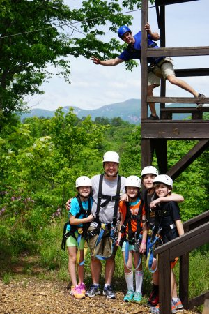 Lake Lure, NC: Canopy Ridge Farm ziplines