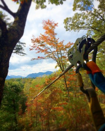 Lake Lure, NC: Canopy Ridge Farm ziplines in autumn