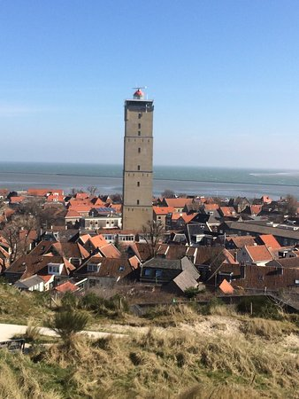 Terschelling, Países Bajos: Markant en indrukwekkende historie.  Gemeente Kampen betaalde voor het hout en de balken van de