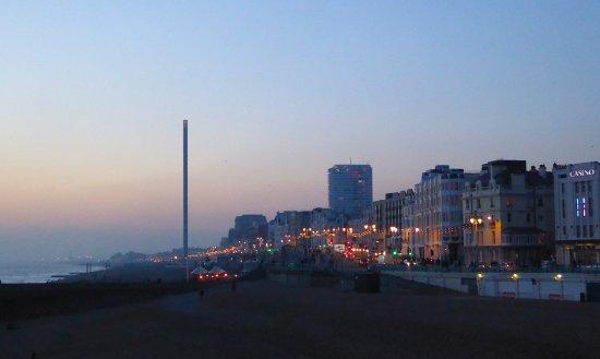 Brighton Beach at dusk