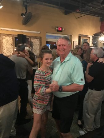 The Villages, FL: Pappo dancing with his granddaughter