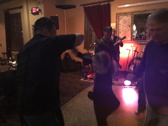 The Villages, FL: David (our 5 Star server) giving London a twirl on the dance floor!