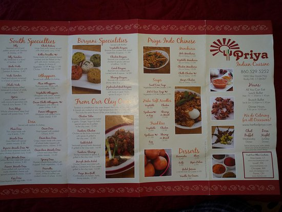 Rocky Hill, CT: Menu card 1