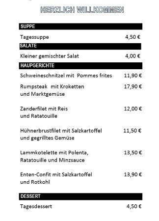 Lauterbach, Alemania: Speisekarte