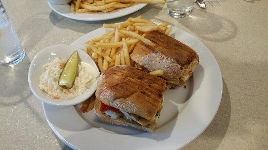Cortlandt Manor, NY: Grilled Chicken with Mozzeralla on Foccacia