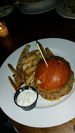 Peekskill, NY: Burger with seasoned fries