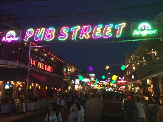 Photo of Monument / Landmark Pub Street at Siem Reap, Cambodia