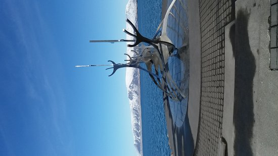 Photo of Monument / Landmark Solfar (Sun Voyager) Sculpture at Saebraut, Reykjavik, Iceland