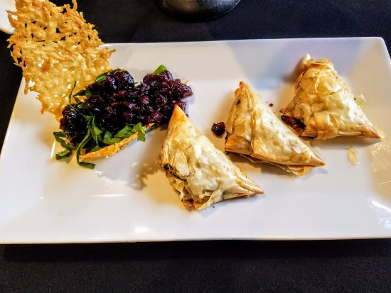 Eagle River, WI: Chicken Bureks with craisin relish