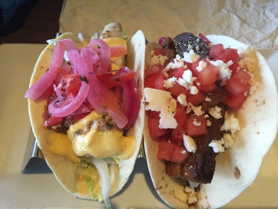 Neptune Beach, FL: Pork Belly Taco and Grilled Fish Taco