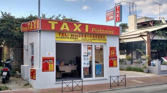 Platanias, اليونان: Platanias Taxi Office, Platanias, Chania, Crete