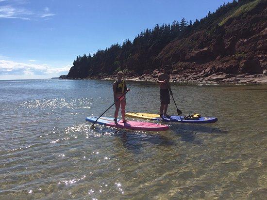 Souris, Canada: Basin Head Beach Provincial Park, Prince Edward Island. Beautiful paddleboarding!