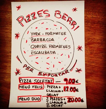 Viladrau, Spain: Pizzes