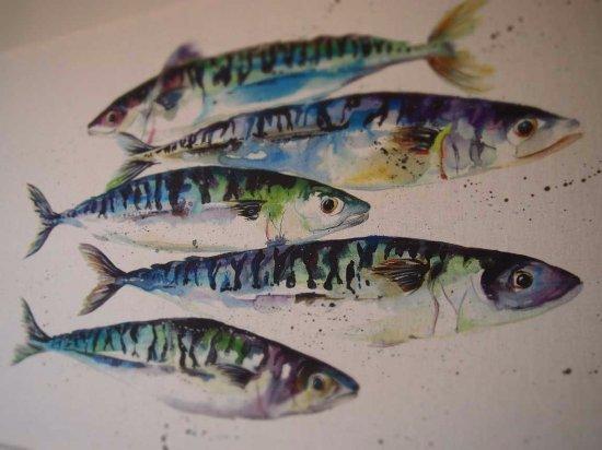 Axminster, UK: Artwork in 'Fisher'