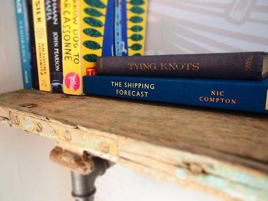 Axminster, UK: Bookshelf detail in 'Fisher'