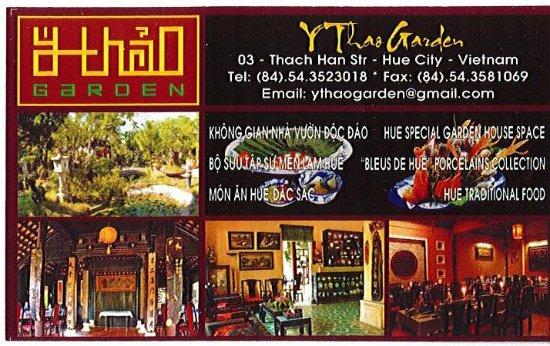 Y Thao Garden Carte De Visite