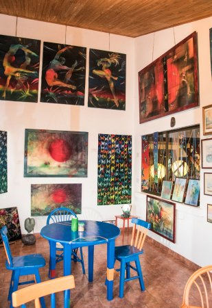 Tilaran, Costa Rica: Some of the paintings that I have on display