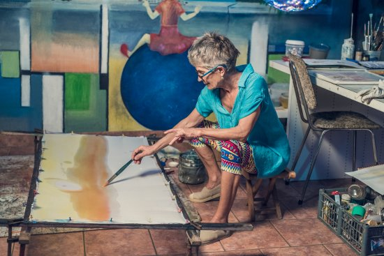 Tilaran, Costa Rica: This is me painting...I love what I do.